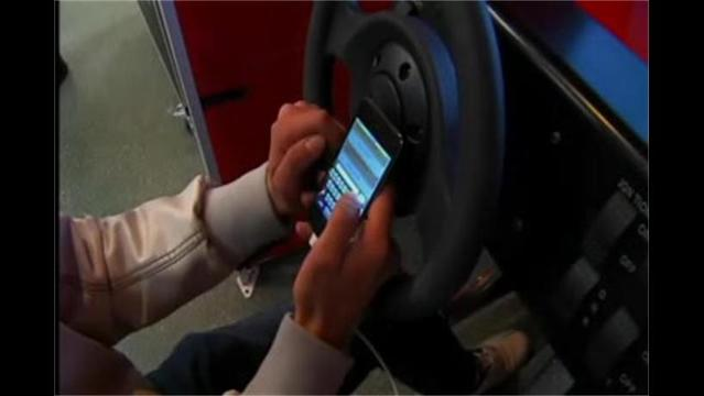 Dangers of texting and driving on display