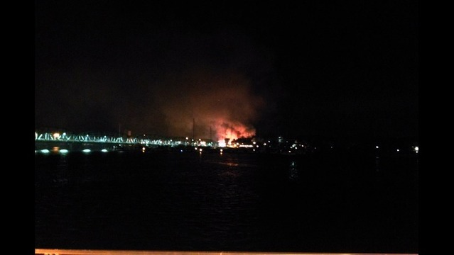 Major Fire in Sturgeon Bay