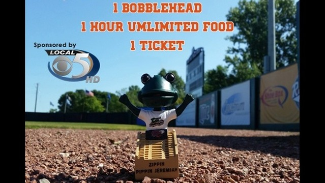 WFRV-TV Green Bay Bullfrogs Bobblehead Day