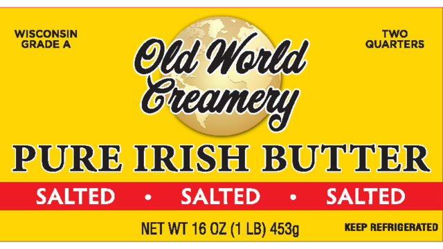 Irish butter now sold in Wisconsin