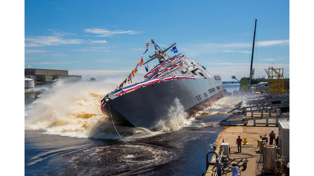 Lockheed-Led Industry Team Launches 15th Navy LCS; Joe North Comments