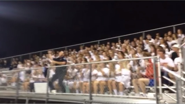 VIDEO: SRO hypes Appleton students at football game