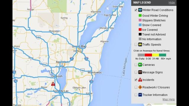 Snow means poor road conditions across NE Wisconsin on
