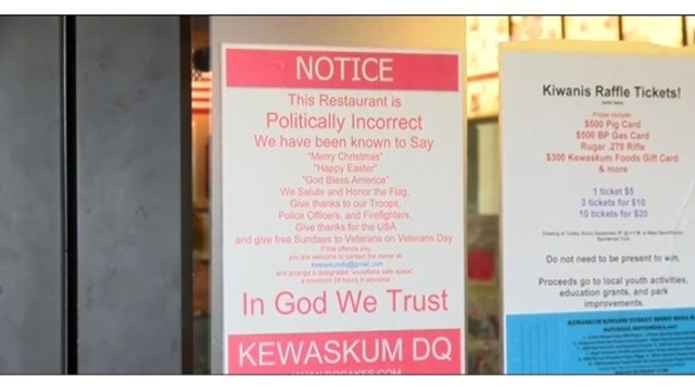 Kewaskum Dairy Queen in national spotlight for 'politically incorrect' sign