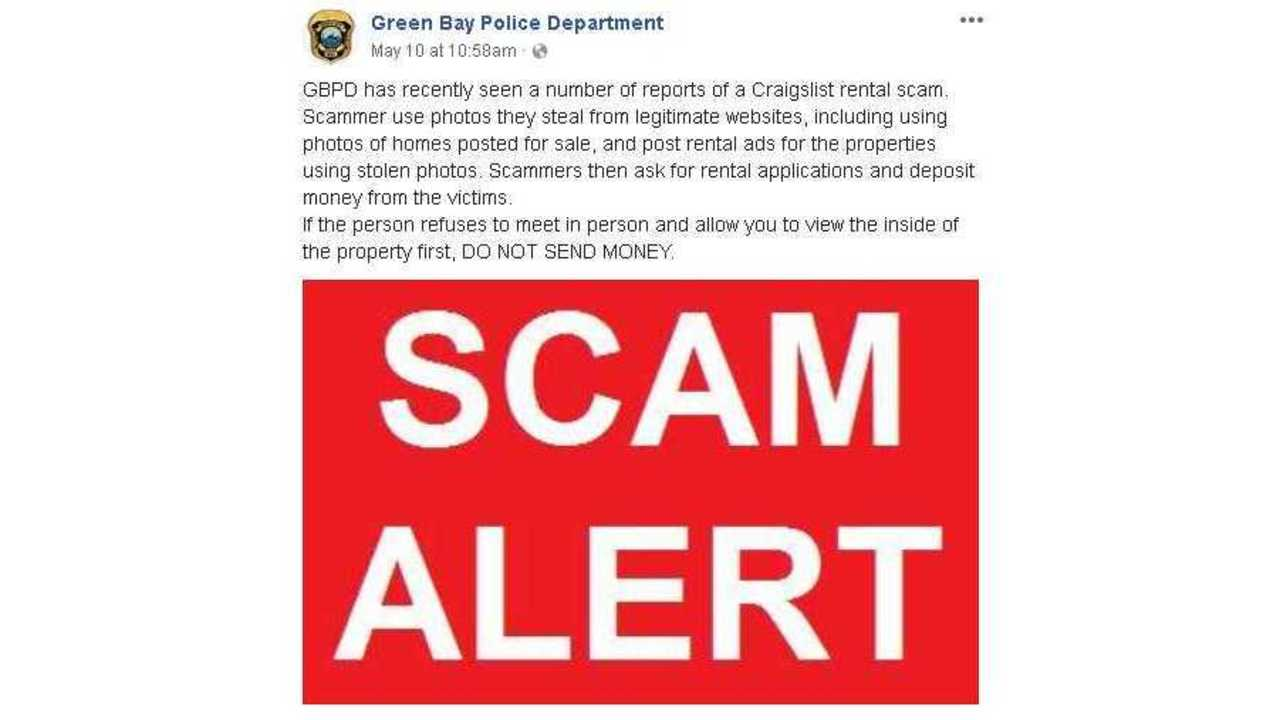 green bay police warns those who use craigslist to be aware of a scam