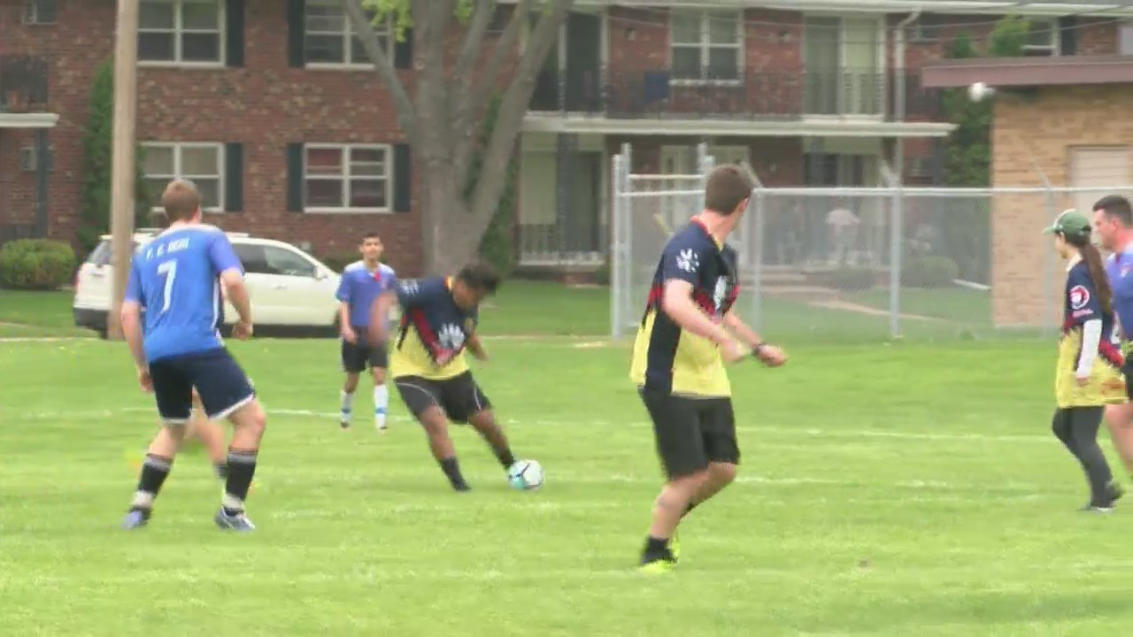 Green Bay Police Officers team up to play a soccer match against Hispanic Soccer League - WEAREGREENBAY