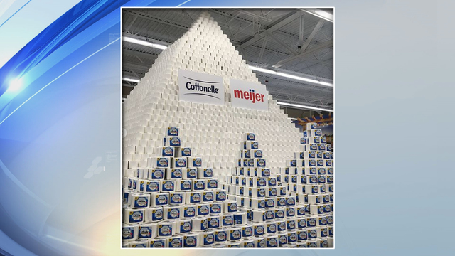 Toilet Paper Pyramid in Grand Chute is Number 1